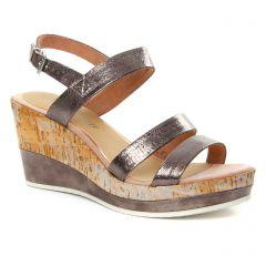 nu-pieds-talons-compenses rose argent: même style de chaussures en ligne pour femmes que les Marco Tozzi