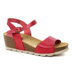 nu-pieds-talons-compenses rouge: même style de chaussures en ligne pour femmes que les Scarlatine