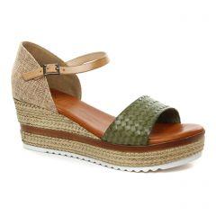 espadrilles-compensees vert: même style de chaussures en ligne pour femmes que les Kanna