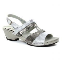 Chaussures femme été 2018 - nu-pieds Suave gris argent