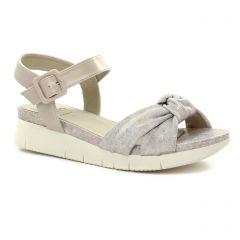 nu-pieds-talons-compenses marron argent: même style de chaussures en ligne pour femmes que les Dorking
