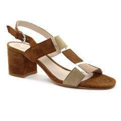 nu-pieds marron beige: même style de chaussures en ligne pour femmes que les Scarlatine