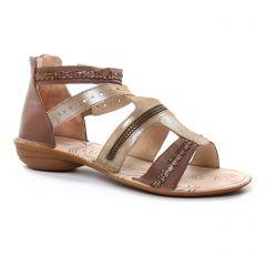 nu-pieds marron doré: même style de chaussures en ligne pour femmes que les Fugitive