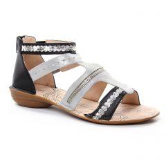 nu-pieds noir argent: même style de chaussures en ligne pour femmes que les Fugitive