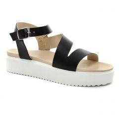 sandales-compensees noir: même style de chaussures en ligne pour femmes que les Scarlatine