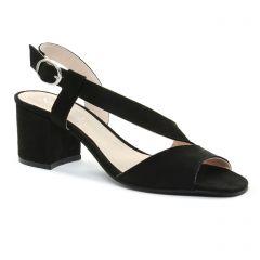 nu-pieds noir: même style de chaussures en ligne pour femmes que les Scarlatine