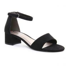 nu-pieds noir: même style de chaussures en ligne pour femmes que les Tamaris