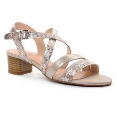 nu-pieds-talon beige doré: même style de chaussures en ligne pour femmes que les Fugitive