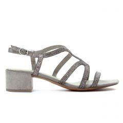 Chaussures femme été 2018 - nu-pieds talon marco tozzi beige