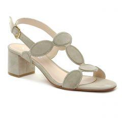 Chaussures femme été 2018 - nu-pieds talon Scarlatine beige gris