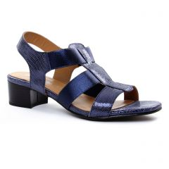 nu-pieds-talon bleu marine: même style de chaussures en ligne pour femmes que les Khrio
