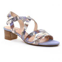 nu-pieds-talon bleu multi: même style de chaussures en ligne pour femmes que les Fugitive