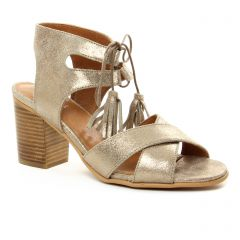 Chaussures femme été 2018 - nu-pieds talon Impact bronze doré