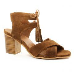 nu-pieds-talon marron: même style de chaussures en ligne pour femmes que les Impact