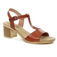 nu-pieds-talon marron: même style de chaussures en ligne pour femmes que les Porronet