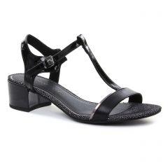 Chaussures femme été 2018 - nu-pieds talon marco tozzi noir