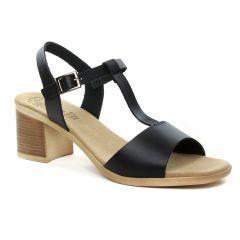 nu-pieds-talon noir: même style de chaussures en ligne pour femmes que les Khrio