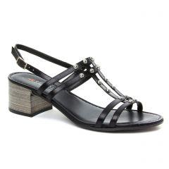 nu-pieds-talon noir: même style de chaussures en ligne pour femmes que les Scarlatine