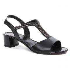 Chaussures femme été 2018 - nu-pieds talon Repo Phil Gatier noir