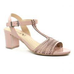 Chaussures femme été 2018 - nu-pieds talon Caprice rose