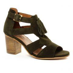nu-pieds-talon vert: même style de chaussures en ligne pour femmes que les Impact