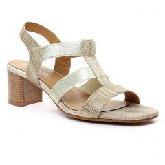 Chaussures femme été 2018 - nu-pieds talons hauts Maria Jaén beige doré