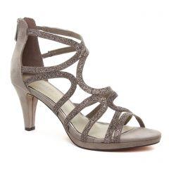 nu-pieds-talons-hauts beige taupe: même style de chaussures en ligne pour femmes que les Marco Tozzi