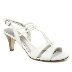 nu-pieds-talons-hauts blanc: même style de chaussures en ligne pour femmes que les Tamaris