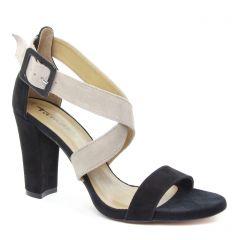 nu-pieds-talons-hauts noir beige: même style de chaussures en ligne pour femmes que les Tamaris