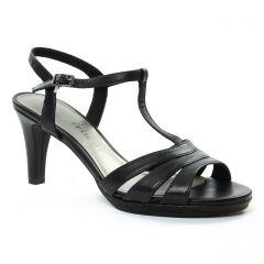 Chaussures femme été 2018 - nu-pieds talons hauts tamaris noir