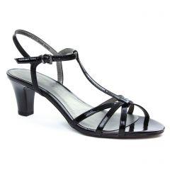 nu-pieds-talons-hauts noir: même style de chaussures en ligne pour femmes que les Rieker