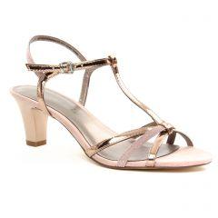 nu-pieds-talons-hauts rose argent: même style de chaussures en ligne pour femmes que les Tamaris
