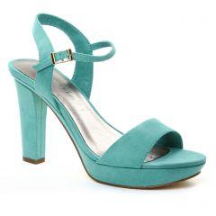 nu-pieds-talons-hauts vert: même style de chaussures en ligne pour femmes que les Tamaris