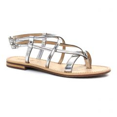 Chaussures femme été 2018 - sandales Geox argent