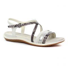 sandales beige argent: même style de chaussures en ligne pour femmes que les Geox