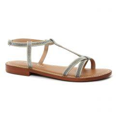 sandales beige argent: même style de chaussures en ligne pour femmes que les Les Tropéziennes
