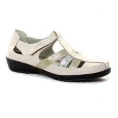 Chaussures femme été 2018 - sandales Suave beige blanc