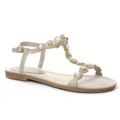 sandales beige doré: même style de chaussures en ligne pour femmes que les Marco Tozzi