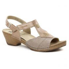Chaussures femme été 2018 - sandales Suave beige doré