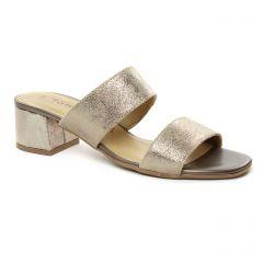 sandales beige doré: même style de chaussures en ligne pour femmes que les Tamaris