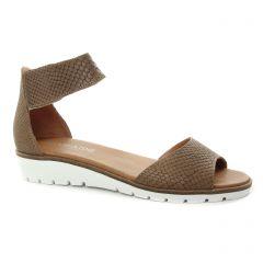 sandales beige taupe: même style de chaussures en ligne pour femmes que les Les Tropéziennes