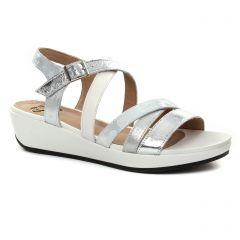 sandales-compensees blanc argent: même style de chaussures en ligne pour femmes que les Mamzelle
