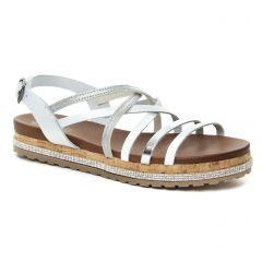 sandales blanc argent: même style de chaussures en ligne pour femmes que les Lassitude