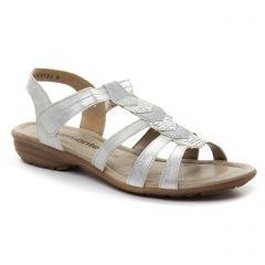 sandales blanc argent: même style de chaussures en ligne pour femmes que les Remonte