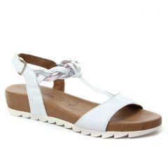 sandales blanc argent: même style de chaussures en ligne pour femmes que les Tamaris