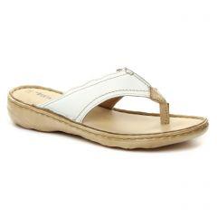 sandales blanc beige: même style de chaussures en ligne pour femmes que les Tamaris