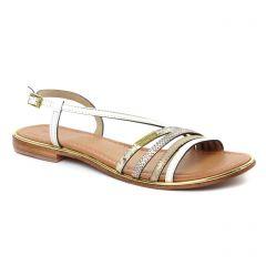 sandales blanc multi: même style de chaussures en ligne pour femmes que les Les Tropéziennes
