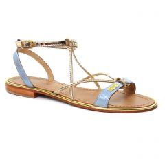 Chaussures femme été 2018 - sandales les tropéziennes bleu argent doré