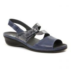 Chaussures femme été 2018 - sandales Suave bleu argent