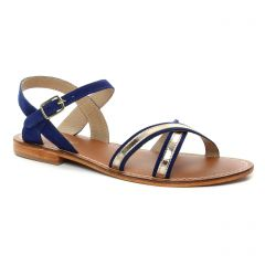 sandales bleu doré: même style de chaussures en ligne pour femmes que les Les Tropéziennes